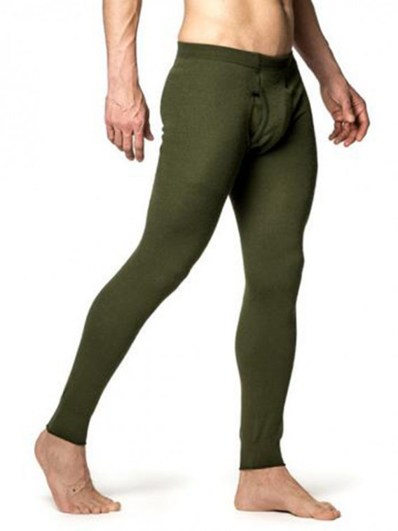 Pantalon Woodpower LONG JOHN 200 Mérinos Vert - Surplus militaire