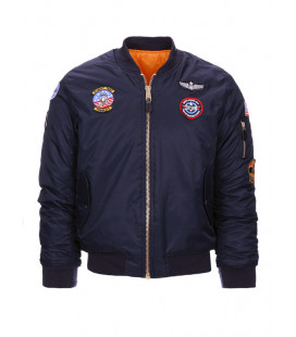 Blouson Aviation MA1 USAF enfant Bleu