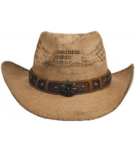 "Chapeau de Paille, ""Colorado"", marron, taille unique"