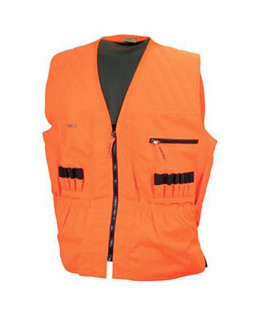 Gilet chasse traqueur orange fluo