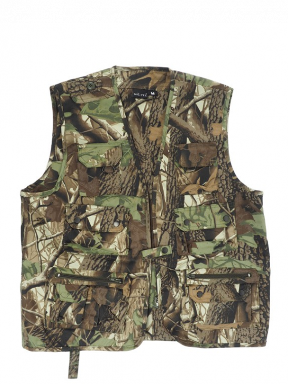Gilet multipoches chasse Camouflage - Surplus militaire