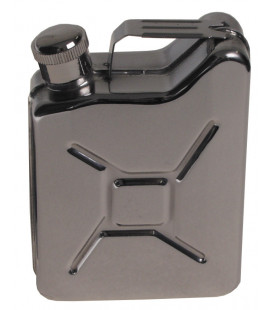 "Flasque ""jerrycan"", 170 ml, acier inoxydable - Surplus militaire"