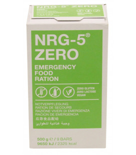 rations d'urgence, NRG-5, ZERO, 500 g, (9 barre) - Surplus militaire
