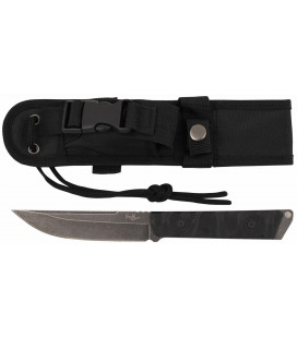 "Couteau militaire ""Fighter"", noir, stonew., poignee G10"
