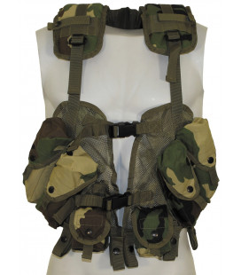 "US Gilet, ""Load Bearing"", woodland, taille réglable - Surplus militaire"