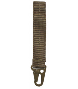 "porte-cles, ""Tactical I"", coyote tan, longueur 12 cm"