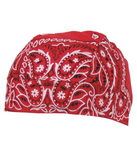 Couvre tête paisley rouge