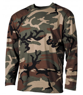 Tee-shirt militaire US Classique camouflage Woodland