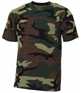 "Tee-shirt militaire US ""Streetstyle"" camouflage woodland"
