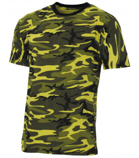 "T-shirt militaire US ""Streetstyle"" camouflage jaune"