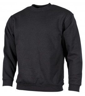 "Sweat-shirt, ""PC"", 340 g/m², noir"