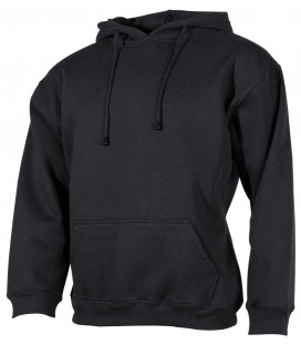 "Sweat-shirt capuche, ""PC"", 340 g/m², noir"