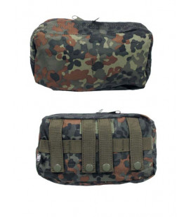Grande pochette multi-usage camouflage BW Flecktarn attache Molle - Surplus
