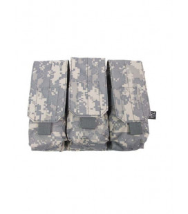 Porte chargeur triple camouflage AT-digital attache Molle - Surplus militaire