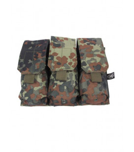 Porte chargeur triple camouflage BW Flecktarn attache Molle