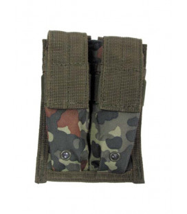 Porte chargeur double camouflage BW Flecktarn attache Molle